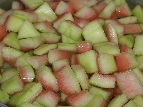 Spiced Watermelon Rind